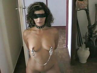 Bdsm women slaves Slave has fishhooks in tits