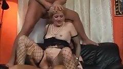 Blonde milf threesome