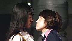 Mika Kikuchi and Mayu Kawamoto Lesbian Kiss