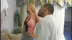 Blond chick gets black cock in ass