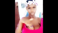 African Model Show Huge Tits