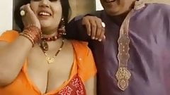 Kanchan Aunty Kissing And Boob Press