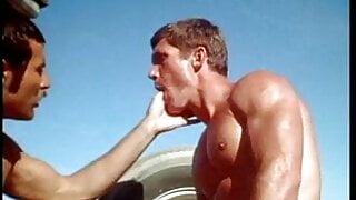 Vintage - cowboys fuck in the truck bed