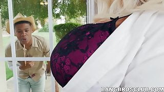 Busty mature babe gets hard railed by a big black cock