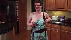 Cute young busty Milf hot striptease