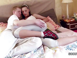 Hot sister gets fucked by brother - Brother and step-sister get first fuck together