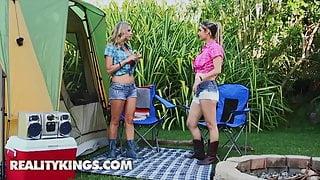 Smoking Chicks Alana Luv and Brianna Ray Decided To Play