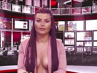 Natural looking breast implants before and after Albanian newsreader greta hoxha after implants