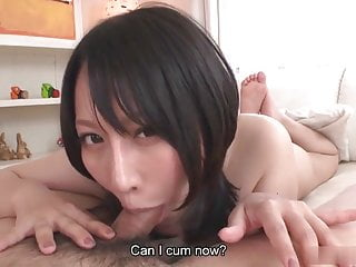 Licking breast Big breasted japanese babe rides cock in pov