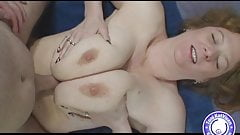 Huge natural busty redhead titty fucked