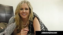 Milf Julia Ann Uses Her Hands, Big Tits & Feet To Milk Cock!