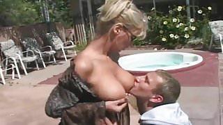 Big tit milf fucks young