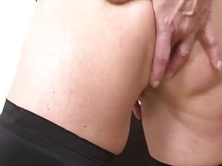 Interracial granny anal sex - Granny anal fucked in hardcore interracial threesome