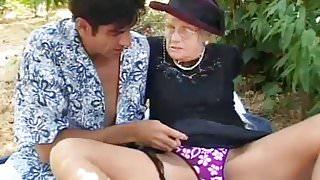 Granny Seduces Young Guy