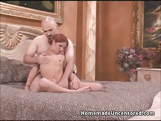 Babysitter fucked by old man - Little beautiful girl is fucked by big guy with small dick
