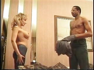 Packing heat cock Hottie in heat pounded by a big black cock