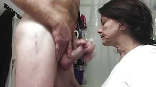Using the wife's mouth