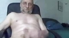 daddy bear jerking and cumming