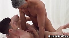 Kinky Mormon boy ass stretched by hung daddy missionary