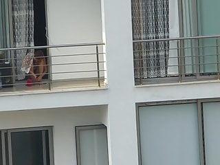 Slutload polish mature woman teaches massage Mature woman nail polishing with bra at balcony 1