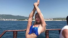 Contortion on the Boat. Triple Fold