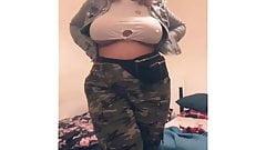 Busty Curvy Hot Arab Girl Showing Off