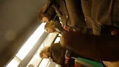 Flashing a group of girls in the train