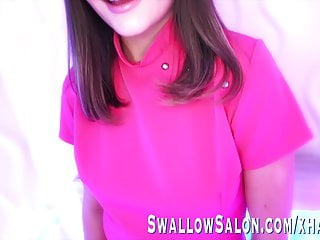 Large cock blowjob videos Aften opal sucks off large cock at swallow salon