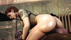 jill valentine fucked by a huge monster