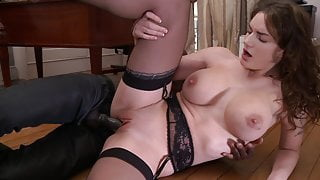 MARIE CLARENCE in black stockings gets fucked hard