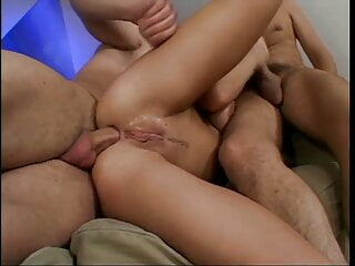 71 amazing  double penetration ANAL destroy and creampie