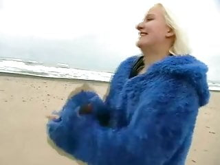 Nudsit strips at beach video Cute blond strips at beach