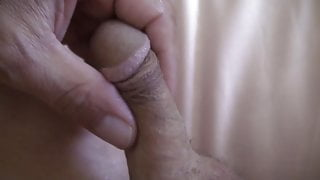small dick with nice moaning cumshot