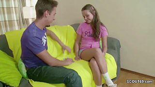 He Fuck His Extremely Small Stepsister in Ass With His Big Dick