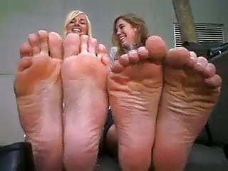 Mature smelly feet - Double smelly feet posing