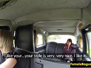 Ginger lesbian sex Female taxi driver pussylicked by ginger brit