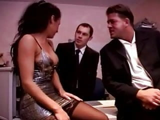 Sexy women in the office Sexy german milf threesome in the office