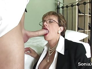 Massive tit thumbs Cheating uk mature lady sonia shows off her massive tit