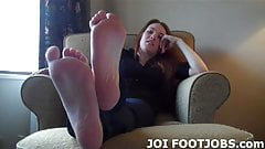 I want to rub my feet up and down your hard cock