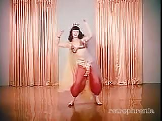 Paula page vintage Betty page dances to little egypt