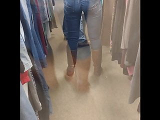 Lyricsapple bottom jeans and the boots with the fur Sexy ass in tight jeans and boots
