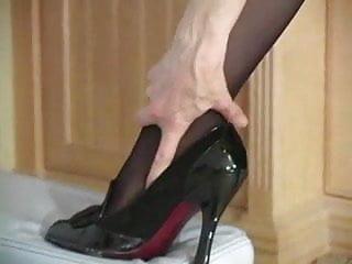 Stocking footed matures - Nina hartley pantyhose tease