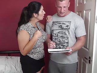 Busty grama fucking - Booty busty mom suck and fuck lucky son
