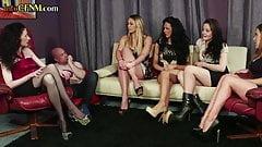 CFNM british babes jerk lucky dick on doomsday
