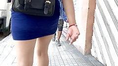 Teen Mini Skirt . Ass Walking 1