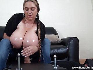 Natural breasts porn tubes - Minimal handjob tease with big natural breasts