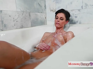 Big tit stepmom caught - Masturbating stepmom caught in the bathtub