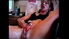 Hairy latina milf masturbating and squirting a lot