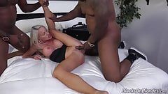 White MILF gets anal and DP from blacks