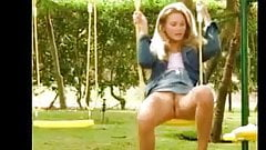 Swing Outside with no panties on